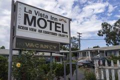 汽车旅馆标志 免版税库存图片