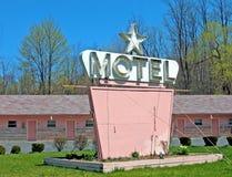 汽车旅馆粉红色 库存图片