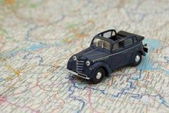汽车映射 免版税库存图片
