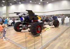 汽车是与乐高的修造在达拉斯车展 免版税库存图片