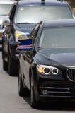 汽车是佛得角的总统有moto的 免版税库存照片