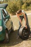 汽车更改轮胎 库存图片