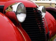 汽车有历史表面的前面 免版税图库摄影