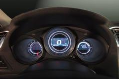 汽车有启发性仪表板 库存图片