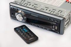 汽车有红外线遥控的MP3播放器 免版税库存图片