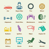 汽车服务元素 免版税图库摄影