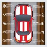 汽车服务,修理,诊断 免版税图库摄影