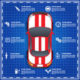 汽车服务,修理,诊断 免版税库存图片