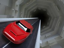 汽车未来派超级 免版税图库摄影