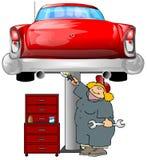 汽车机械师 向量例证