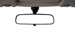 汽车查出的镜子背面图 库存照片