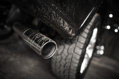 汽车柴油引擎大气污染 免版税图库摄影