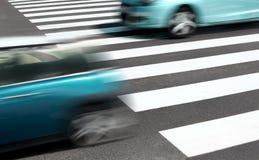 汽车概念和路标 免版税库存照片