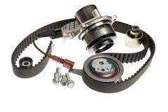 汽车水泵修理工具包同步皮带张力零件 库存照片