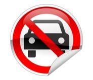 汽车没有符号 免版税库存照片