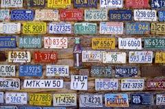 汽车注册 库存照片