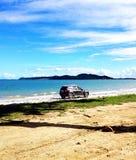 汽车海滩 库存图片