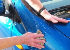 汽车清洁 免版税库存照片
