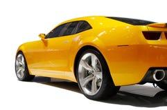 汽车炫耀黄色 库存照片