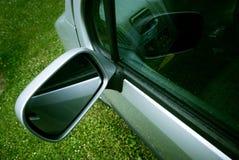 汽车特写镜头镜子 图库摄影