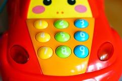 汽车玩具按钮 免版税库存照片