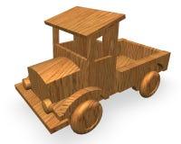 汽车玩具木头 库存例证