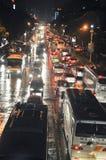 汽车瓷堵塞晚上珠海 图库摄影