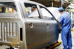 汽车生产线 免版税库存图片