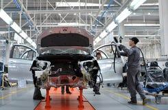 汽车生产 免版税库存照片
