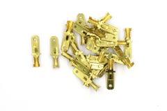 汽车电子多别针塑料连接器、男性和插座连接器插座,被隔绝的各种各样的电子连接器  免版税库存照片