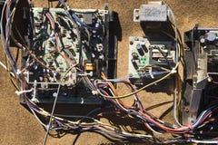 汽车电子零件电汇 库存照片
