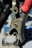 汽车电池缆绳 库存照片