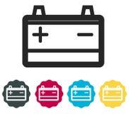 汽车电池象-例证 库存图片