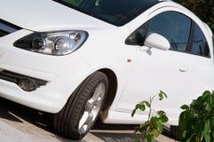 汽车白色 库存图片
