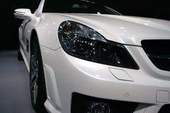汽车白色 免版税库存照片
