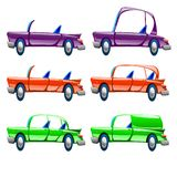 汽车的不同的类型 免版税图库摄影