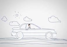 汽车的人 免版税库存图片