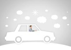 汽车的人 免版税图库摄影