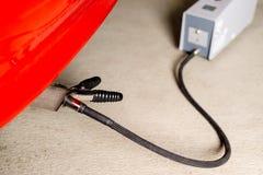 汽车的传感器设备测量的尾气  免版税库存图片