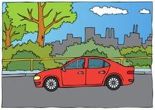 汽车的例证从边的 库存例证