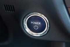 汽车的力量按钮 免版税库存图片