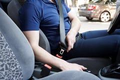 汽车的司机 免版税库存图片