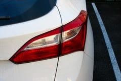从汽车的尾灯 免版税库存照片