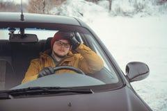 汽车的恼怒的司机 库存图片
