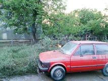 汽车的情况在洪水以后的 免版税库存照片