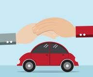 汽车的手保护 库存例证