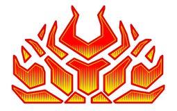 汽车的敞篷的燃烧的火标签 发火焰马力强大的赛跑的汽车 乙烯基准备好部族火焰 向量例证