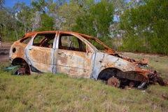 汽车的生锈的击毁 免版税库存照片
