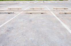 汽车的空的空间,室外汽车停车处 库存照片