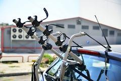 汽车的自行车持有人 免版税图库摄影